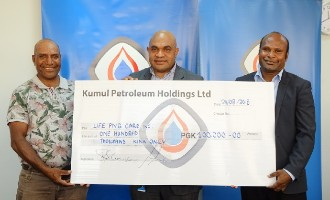 Kumul Petroleum Holdings presents K100, 000 to LPC – proceeds from the Charity Golf Challenge