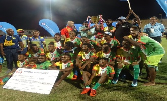 Toti City Football Club were the proud winners of a K100,000 cheque as grand final winners